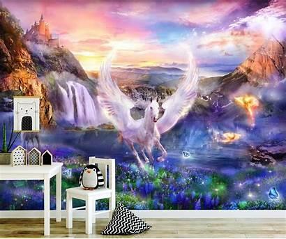 Unicorn Magical Wings Vinyl Decals Nursery Self