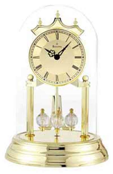 anniversary clocks glass dome chime non chiming