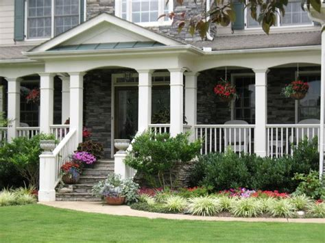 front porch landscaping ideas closer up of the porch love the big columns and the way it s arched between the columns
