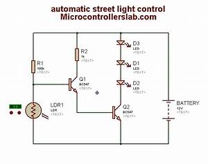 Automatic Street Light Control Circuit Diagram