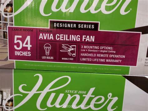 hunter avia 54 led ceiling fan hunter avia ceiling fan