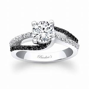 Barkev39s black diamond engagement ring 7677lbk barkev39s for Black wedding rings with diamonds