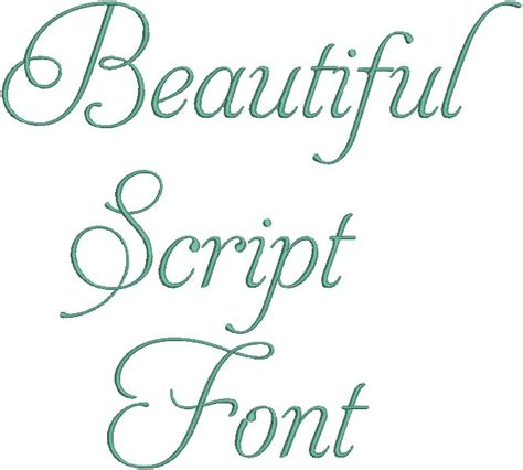 Beautiful Scripts And Fonts by Beautiful Aphrodite Script Machine Embroidery Font