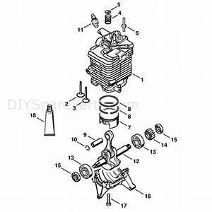 Stihl Br 550 Backpack Blower  Br 550  Parts Diagram  Cylinder
