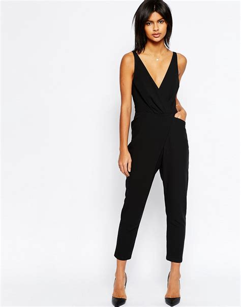 wrap jumpsuit mychicpicks asos cami wrap jumpsuit with peg leg find