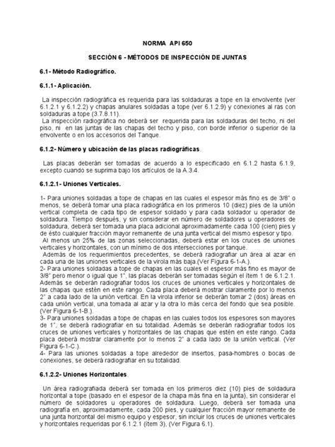 Api 650 | Soldadura