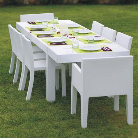 canap de jardin design table de jardin design 10 personnes jut par vondom