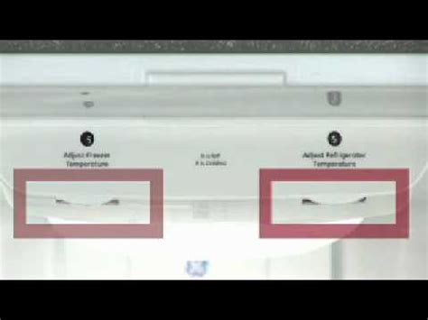 adjusting bottom freezer refrigerator temp controls knobs youtube