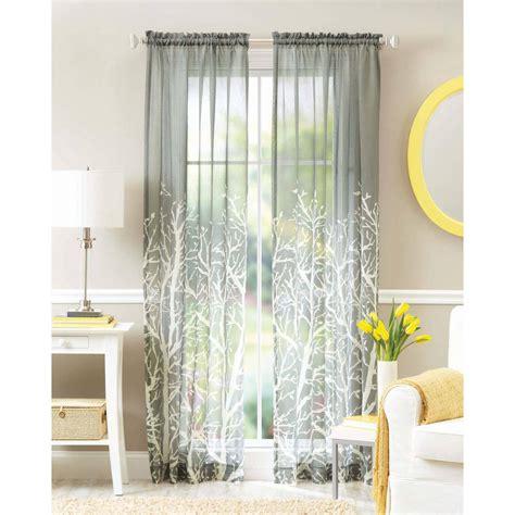sheer curtain panels better homes and gardens elise woven stripe sheer window
