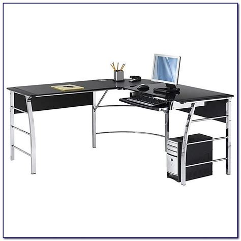 realspace mezza l shaped glass computer desk realspace mezza l shaped desk realspace mezza l shaped