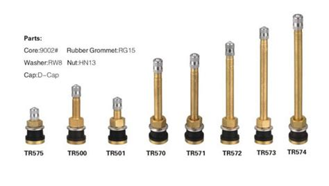 China Tubeless Type Truck And Bus Tire Valve (tr575, Tr500
