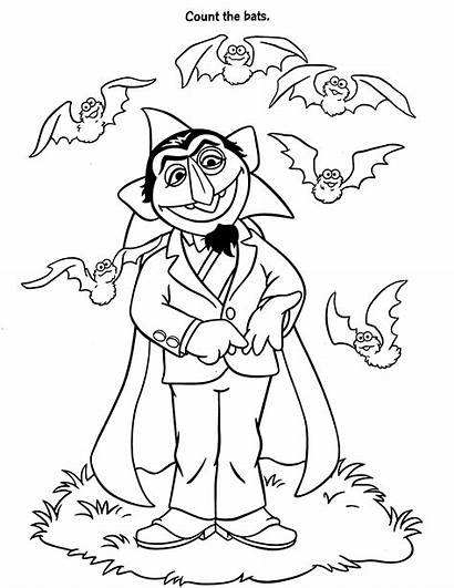 Count Coloring Pages Sesame Street Halloween Elmo