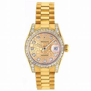 Ladies Rolex President Gold and Diamond Watch 179158 at ...