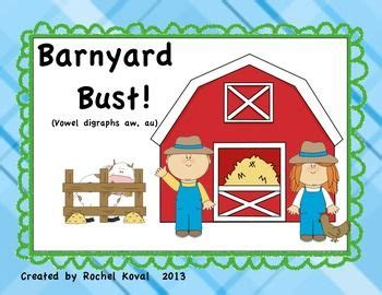 vowel digraphs aw  au barnyard bust  images
