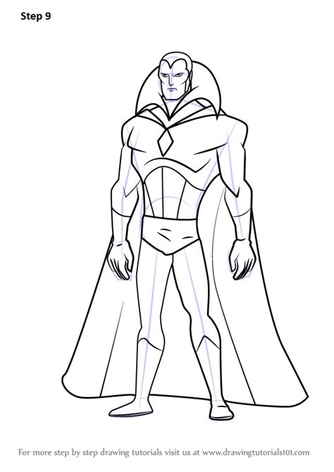 learn how to draw vision from the avengers earth s