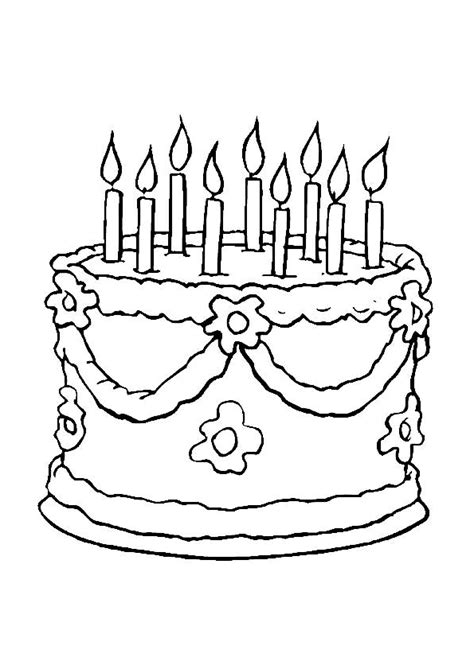 Coloriage Gâteau Anniversaire