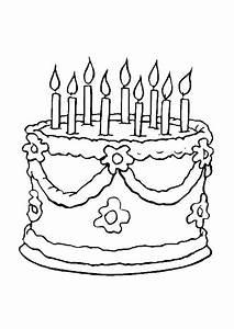 Dessin Gateau Anniversaire : coloriage g teau anniversaire ~ Melissatoandfro.com Idées de Décoration