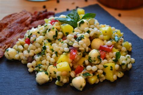 salade de couscous israelien bocconcini mangue  herbes