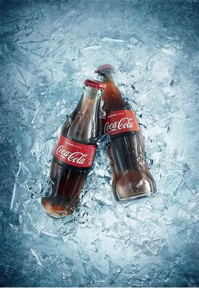 Cola Coca Behance Iced Splash