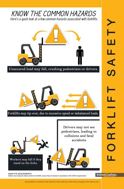 forklift safety safety posters