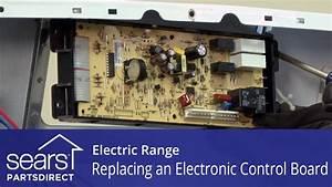 Replacing an Electronic Control Board in an Electric Range ...
