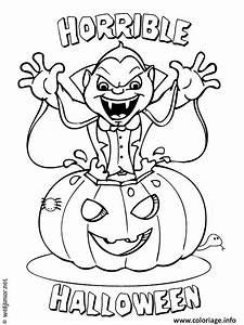 Dessin Halloween Vampire : coloriage vampire citrouille halloween dessin ~ Carolinahurricanesstore.com Idées de Décoration