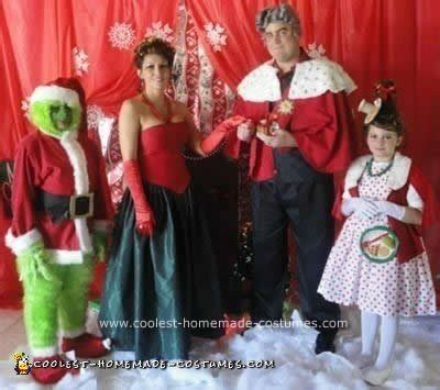 coolest handmade grinch character group costumes