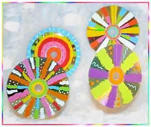 Blumen Basteln Kinder : bunte cd suncatcher basteln mit kindern cd anmalen suncatcher ~ Frokenaadalensverden.com Haus und Dekorationen