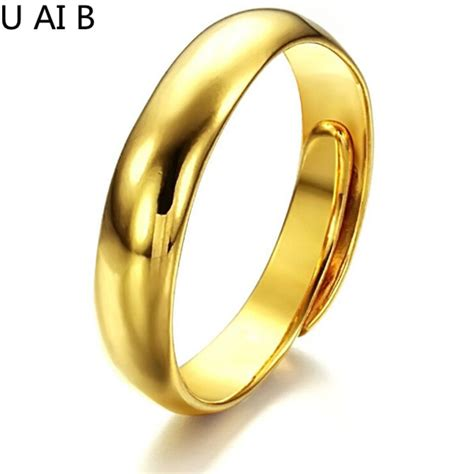 korean fashion jewelry gold color ladies ring opening face