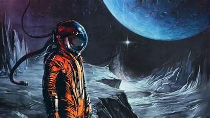 Wallpapers Astronaut Space Retro Desktop Artwork Fi