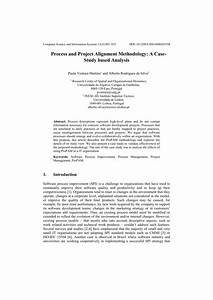 (PDF) Process and project alignment methodology: A case ...