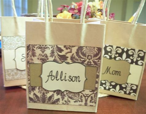 small gift bags personalized   bridesmaids gift
