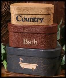 country primitive bathroom decor tissue box covers