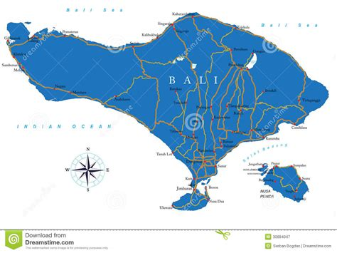 bali map royalty  stock photography image