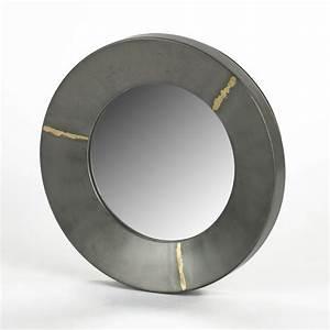 Spiegel Rund Groß : lambert aninanda spiegel eisen rund silber grau gro 30x ~ Indierocktalk.com Haus und Dekorationen