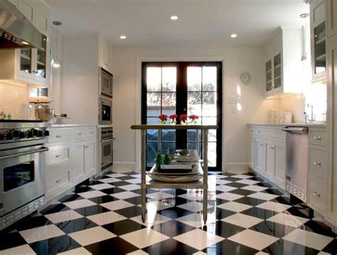 black white kitchen floor tile edelstahl k 252 che versch 246 nern sie ihre k 252 cheninsel 7913