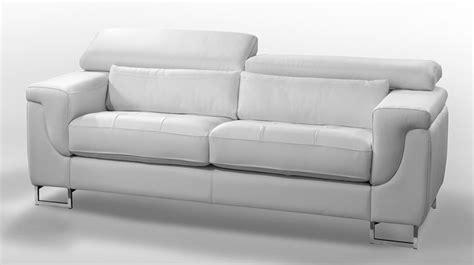 canap en cuir blanc canape design 2 places cuir blanc