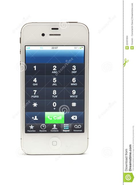 numbers on iphone number on iphone 4 editorial stock image image