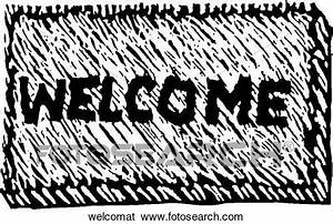 Clip Art of Welcome Mat welcomat - Search Clipart ...