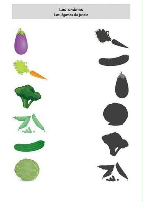 sombras alimentacao preschool activities vegetables