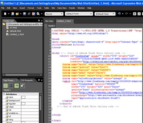 adesk flash album builder embedding  flash photo gallery  microsoft expression web