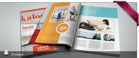 Free And Premium Print Magazine Templates 56pixels