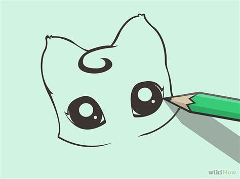 Big Anime Eyes Kawaii Cute Anime Eyes Drawing Draw A Cute Cartoon Cat Step