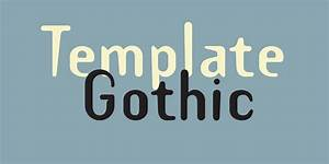template gothic premium font urban fonts With template gothic font free