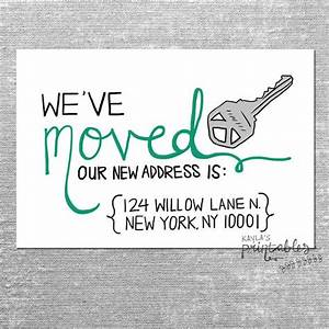 we39ve moved card with custom address 4x6 printed card With we have moved cards templates