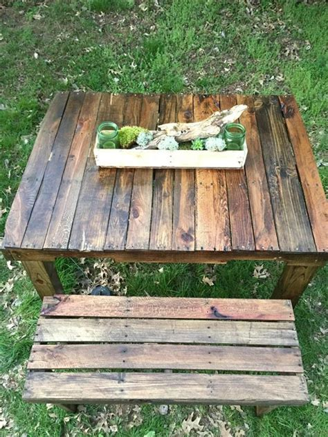 diy pallet picnic table  bench pallet furniture plans