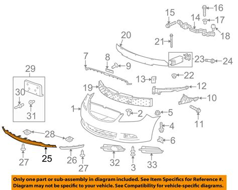 Buick Oem Parts by Buick Gm Oem 10 13 Lacrosse Front Bumper Grille Air