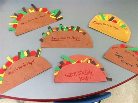 simple and craft ideas for kindergarten taco craft for cinco de mayo taste of the world 8145