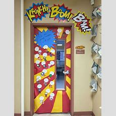 Superhero Classroom Doors  Tpt 35 Literacy  Pinterest  Shirts, Doors And Superhero Classroom
