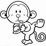 Monkey Coloring Pages Cute Cartoon Baby Dinosaur Printable Realistic Monkeys Flowers Names Gonzales Speedy Easy Adults Colouring Drawing Getcolorings Printables sketch template